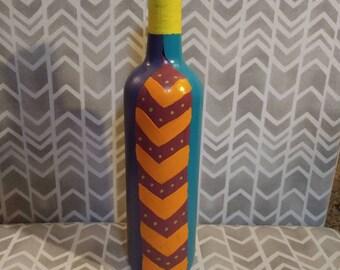 Colorful wine bottle