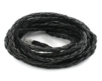 1 meter of synthetic black braided cord (x 1 meter)