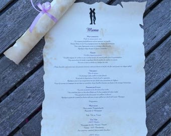 Petite rolled parchment tailor-made for wedding or baptism