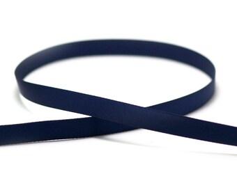 5 m of plain satin 10 mm Navy Blue bias