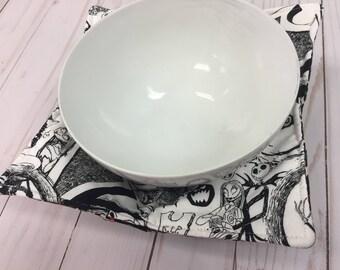 Nightmare Before Christmas - Reversible Bowl Pot Holder - SHIPS IMMEDIATELY!