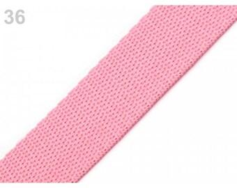 1 meter of strap 30 mm pink nylon