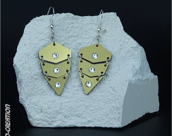 """Earrings collection SYLCO """"INDIANA"""" (gold/black)"""