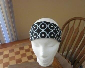 Black and Blue Circle Headband with Rhinestones
