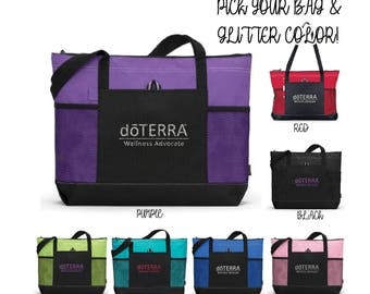 DoTerra Compliance Approved Tote Bag, DoTerra glitter tote Bag, doterra tote bag