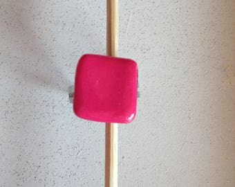 polymer clay rose ring licorice