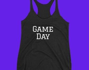 Game Day Tank Top - Ladies Tank Top - Workout Shirt - Yoga Tank Top - Football Tank Top
