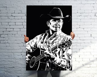 George Strait Poster | Home Decor Wall Art | Perfect Gift for any George Strait Fan | 11x14 - 16x20 - 24x36 - 36x48 | FREE SHIPPING