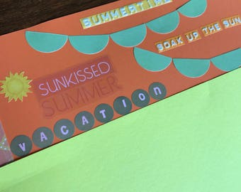 Summer Vacation Premade Scrapbook Page