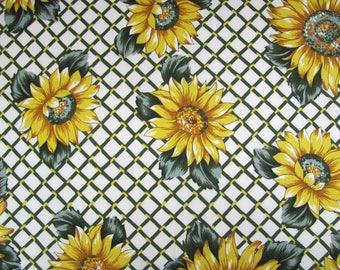 Cut of fabric 100% cotton pattern tounesols 40cmx40xm