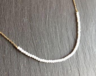 fine necklace pastel blue gemstones