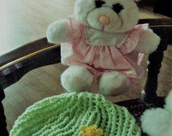 Beanie Baby (girl) and yellow flower
