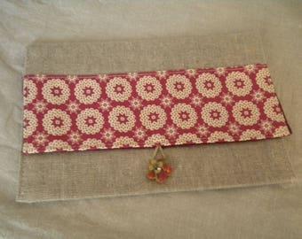 dress handkerchief linen and cotton pink medallions