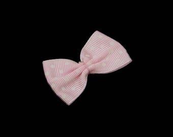 ♥ 1 PCs pink bow has polka dots 35mm ♥