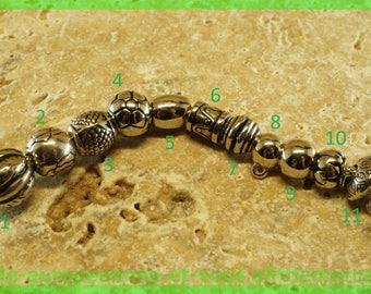 European N7 acrylic bead for bracelet charms