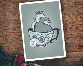 The tea to my heart - postcard