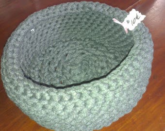 Large gray basket crochet