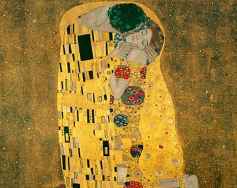 SET of TABLE semi-rigid ORIGINAL AESTHETIC WASHABLE and durable - Gustav Klimt - the kiss - Bis - prestige Version