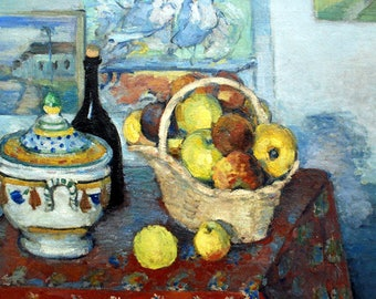 ORIGINAL design, durable and WASHABLE PLACEMAT - Paul Cezanne - still life with the soup tureen - classic.