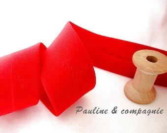 One meter of plain red bias width 27mm