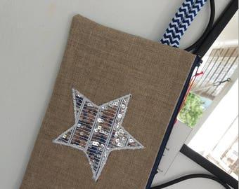 Silver Star with wrist strap clutch
