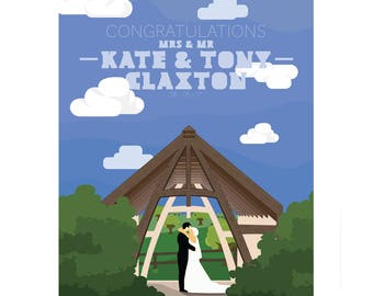 Illustrated wedding gift (Customisable)