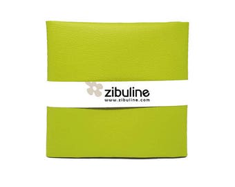 Coupon of faux leather cord - 45 x 50 cm - color lemon Green