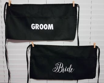 Bride and Groom Stag & Doe aprons