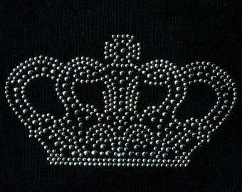 Crown rhinestone and metal melt 12.5 x 7.5 cm