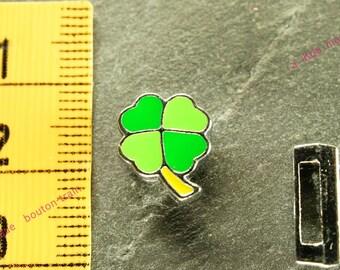 width four leaf clover bead for bracelet