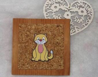 frame decoration cat