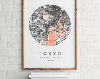 Tokyo Map, Tokyo Map Print, Tokyo City Print, Minimalist Map, Home Map, City Map Print, Modern Map, Modern Map Print, Minimalist City Map