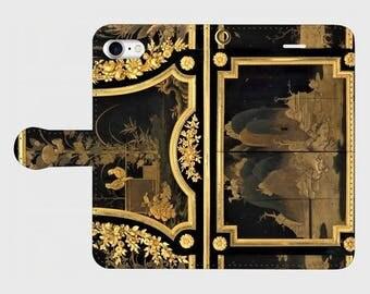 """Wallet phone case """"Jean Henri Riesener Drop-front secretary (Secrétaire en armoire)"""""""