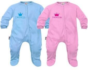 2 baby twins Pajamas: twince / twincess