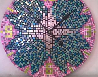 Mosaic wall clock design diameter 50 cm