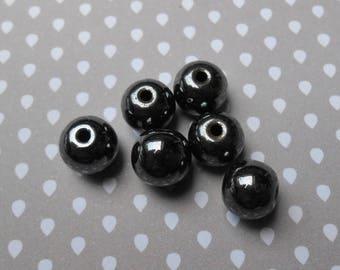 Set of 4 very pretty 10 mm Hematite round beads