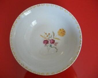"""""""Bouquet of flowers"""" Limoges porcelain bowl"""