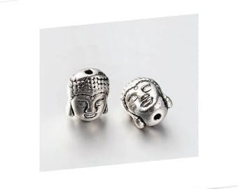 A 11 x 9 mm, hole 1 mm, alloy Buddha bead