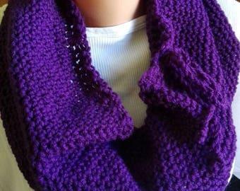 Ring scarf, ring crochet scarf, purple scarf, infinity scarf, infinity crochet scarf, crochet scarf, women gift, birthday gift, women scarf