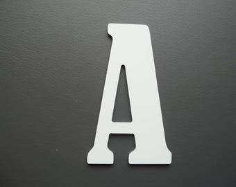 Metal aluminum BERNARD CONDENSED letter. all letters available
