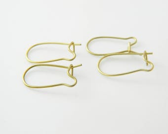 2 x pair lever back earrings gold 17mm (l378)