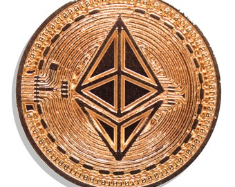 Ethereum Rose Gold Hard Enamel Pin