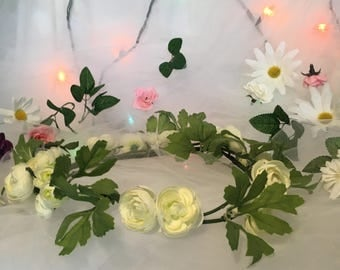 Flowers and Leaves Full Flower Crown