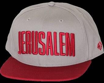 red style Jerusalem snapback . cap