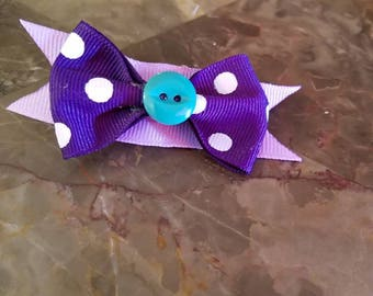 Cute purple and teal bow