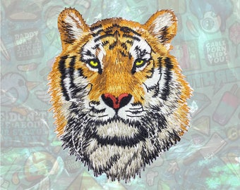 Tiger Patch Face Animal Patch Iron on Patch Sew On Patches
