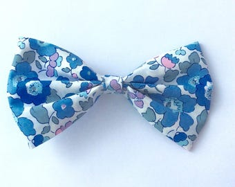 hair bow fabric liberty betsy blue