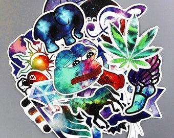 Galaxy Pack A Stickers (x28) - Vinyl - Colourful Sticker - Diamond Sticker - Lifestyle Sticker - Chill Mood Sticker - Strange Color Sticker