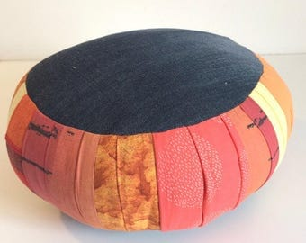 Zafu travel, meditation cushion - Orange/yellow Version