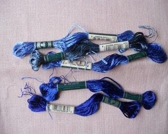 Set of 5 skeins DMC Satin embroidery FLOSS